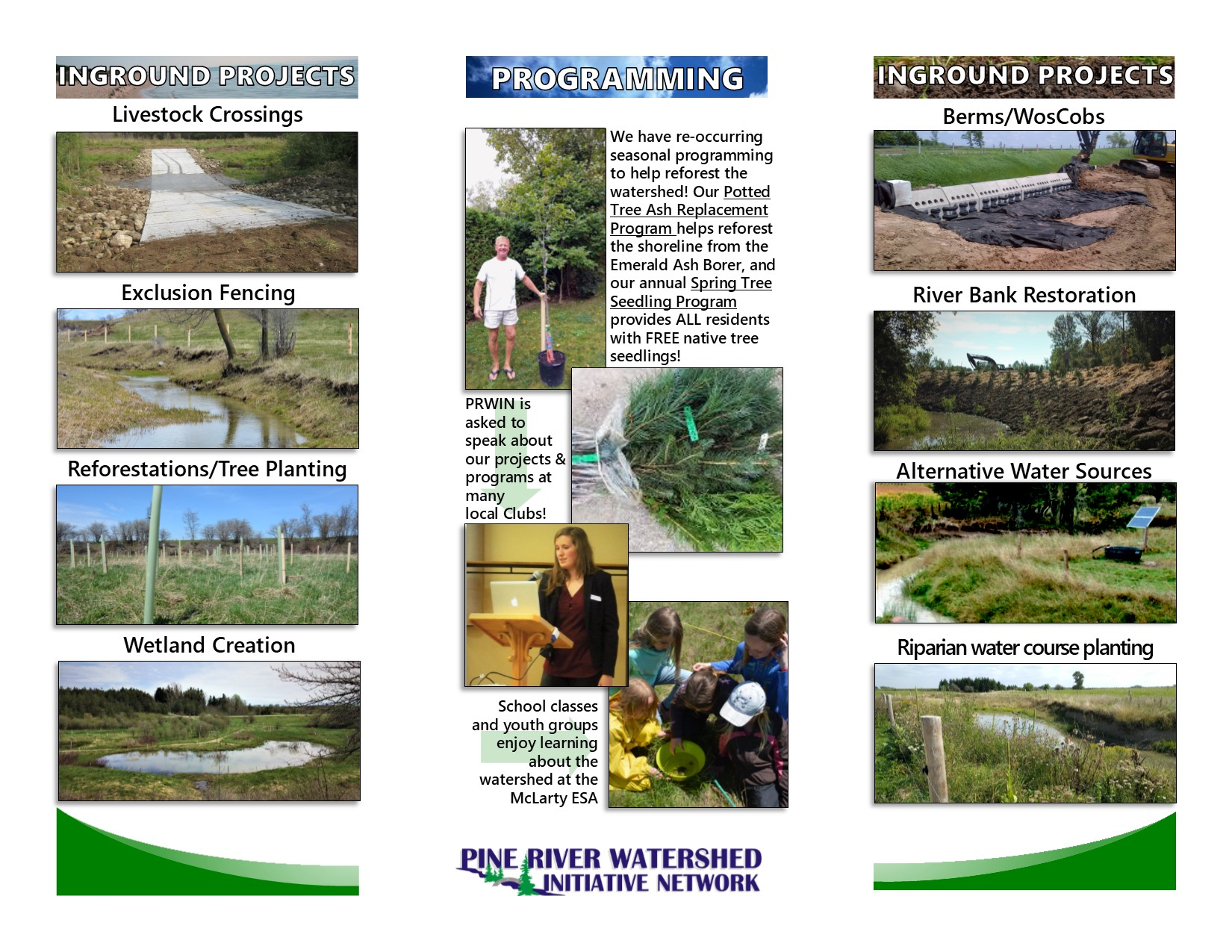 New Pine River Watershed Brochure!